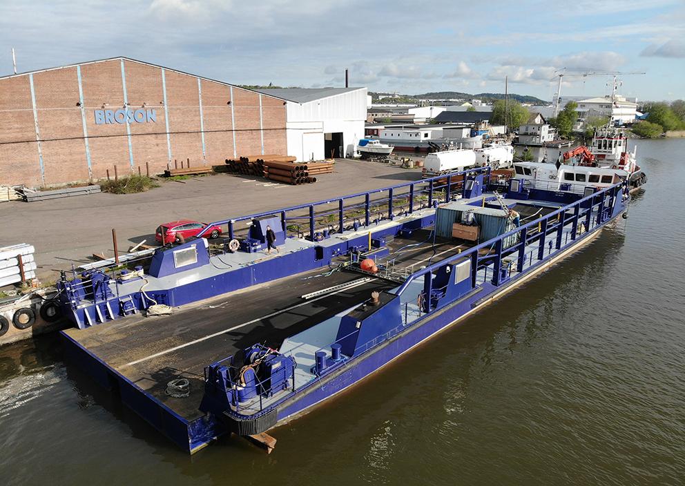 roro vessel Asterix Sandinge inland waterways inlandssjöfart